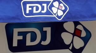 Logos of France's national lottery company Francaise des Jeux (FDJ) are seen in Nice, France, October 3, 2019