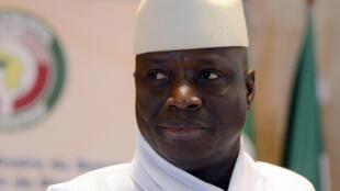 Rais wa Gambia, Yahya Jammeh, hii ni picha ya kumbukumbu akiwa nchini Morocco mwaka 2014