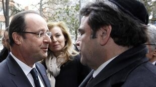 French President François Hollande at a commemoration of Mohammed Merah's killing spree last year
