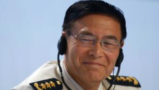 Đô đốc Tôn Kiến Quốc, phó tổng tham mưu trưởng quân đội Trung Quốc, trưởng đoàn Trung Quốc tại Đối thoại Shangri-la, Singapore, ngày 05/06/2016.