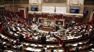 French National Assembly during a debate to extend a state of emergency, Paris, France, 19 November 2015
