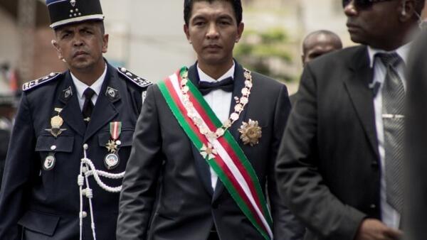 Le président malgache Andry Rajoelina, lors de son intronisation le 19 janvier 2019 (image d'archives).