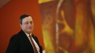 O presidente do Banco Central Europeu, Mario Draghi, após reunião do G20 nesta segunda-feira, no México.
