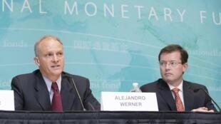 Alejandro Werner (esquerda), diretor do Fundo Monetário Internacional (FMI) para o Hemisfério Ocidental.