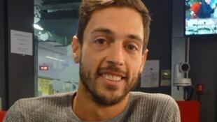 Mateo Andrea en los estudios de RFI