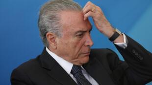Cựu tổng thống Brazil Michel Temer. Ảnh tại Brasilia, 23/08/2017.