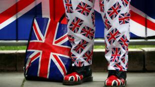 Un pro-Brexit devant le Parlement à Londres, le 13 mars 2019.