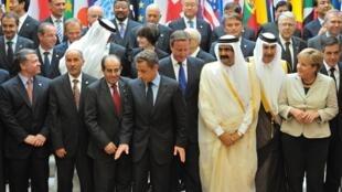 """Делегаты конференции """"Друзья Ливии"""" в Елисейском Дворце. Париж 01/09/2011"""