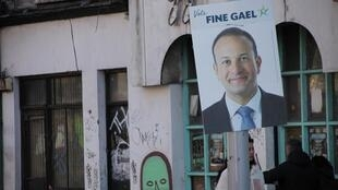Election poster for incumbent Irish Prime Minister Leo Varadkar in Dublin