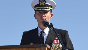 Brett Crozier, commandant du porte-avions nucléaire américain USS Theodore Roosevelt.