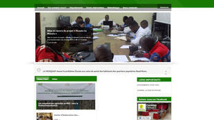 Le CENADEP est une ONG qui participe à l'assainissement de Kinshasa (capture d'écran du site internet du CENADEP).