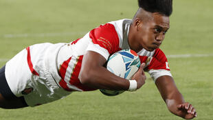 Kotaro Matsushima became the first player to score three ties in the opening game of a rugby world cup.