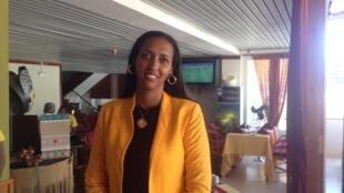 Janira Hopffer Almada, líder do PAICV, principal partido de oposição em Cabo Verde.