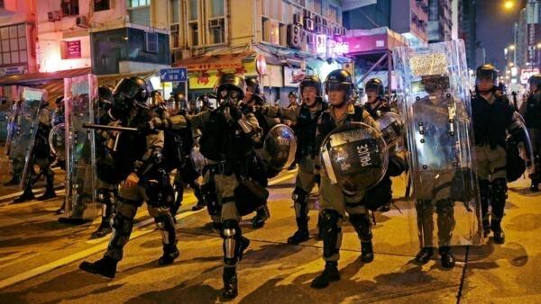 香港8月3日晚抗議資料圖片