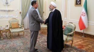 وزیر امور خارجه کره شمالی در تهران با حسن روحانی، رییسجمهوری اسلامی ایران، دیدار کرد