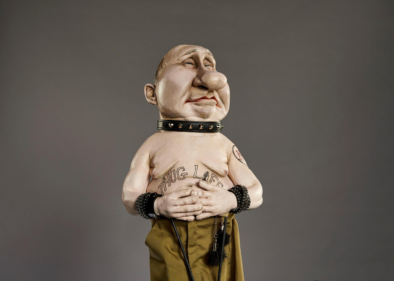 """Кукла Путина из британской сатирической передачи """"Spitting Image"""""""