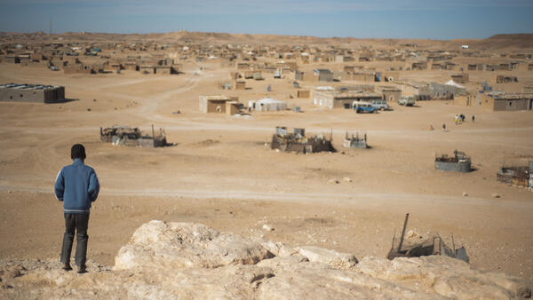 View of the Layoune refugee camp in Algeria, February 2015