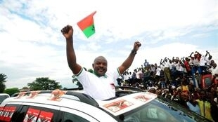 Burundi's President Pierre Nkurunziza campaigns in last year's election