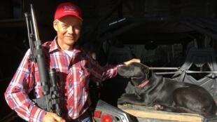 Don De Langh, fermier à Marshall, fervent soutien de Donald Trump.