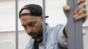 Режиссер Кирилл Серебренников на заседании в Басманном суде, 23 августа 2017 года, Москва.