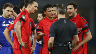 PSG striker Zlatan Ibrahimovic will miss four games after his outburst against officials at Bordeaux last month