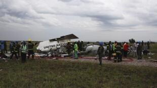 A chuva pode ter provocado o acidente com o avião da ONU, nesta segunda-feira em Kinshasa