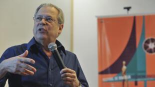 O ex-ministro José Dirceu, condenado na segunda-feira a dez anos e dez meses de prisão por seu suposto envolvimento no escândalo do Mensalão.
