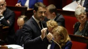 Le ministre français de l'Intérieur Christophe Castaner lors des questions au gouvernement à l'Assemblée nationale, le 4 février 2020.