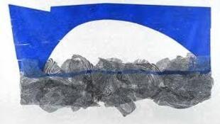 """""""A Ponte"""", xilogravura realizada em 2011 por Maria Bonomi."""