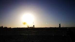 Long March 2C takes off from the Jiuquan launch centre in the Gobi Ddesert