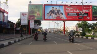 The streets of Banda Aceh, island of Sumatra.