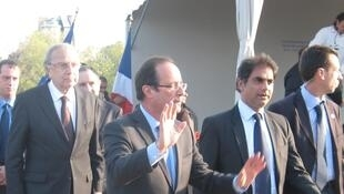 French President François Hollande at an Armenian genocide commemoration in 2012