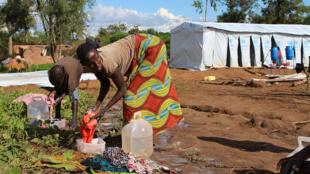 Wakimbizi wa Burundi katika kambi ya Gashora, Bugesera, Mei 9, 2015.