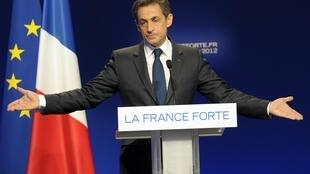 Fighting for his political life - Nicolas Sarkozy at an election rally in Lyon