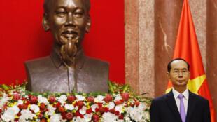 Chủ tịch nước Việt Nam Trần Đại Quang tại Phủ chủ tịch, Hà Nội, ngày 13/09/2018.