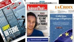 As tensões políticas que irão marcar a cúpula da União Europeia, em Bruxelas, são tratadas com destaque pela imprensa francesa nesta quinta-feira (28).