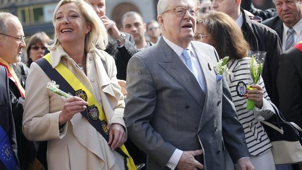 Those were the days - Jean-Marie (R) and Marine  Le Pen at a Front National rally in Paris in 2010