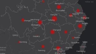 Bản đồ virus corona lây lan trên thế giới