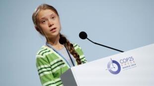 Greta Thunberg tại Thượng đỉnh Khí hậu COP 25, Madrid.