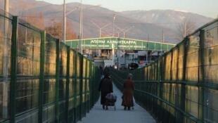 Frontière entre la Russie et l'Abkhazie, province géorgienne qui a proclamé son indépendance et n'est reconnue que par Moscou.
