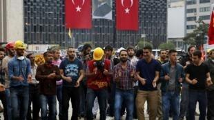Ocupação do parque Gezi em Istambul, 13 de junho de 2013.