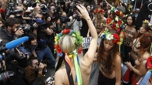 As militantes do movimento feminista Femen
