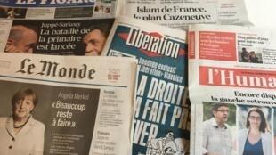 Primeiras páginas diários franceses 29/08/2016