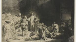 «La Pièce aux cent florins», gravure à l'eau-forte de Rembrandt en 1649.
