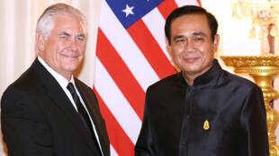 泰國總理巴育今年8月份會見到訪的美國國務卿蒂勒森 2017.8.8