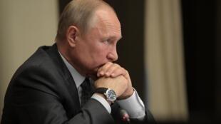 俄罗斯总统普京2019年10月16日莫斯科郊外诺沃-奥加里沃沃州官邸