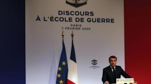 Emmanuel Macron, le 7 février 2020.