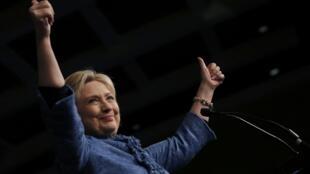 Hillary Clinton, en meeting à Palm Beach, en Floride, pour le super Tuesday bis du 15 mars 2016.