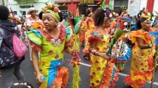 Desfile do Carnaval dos professores de São Vicente com materiais reciclados.22 de Fevereiro de 2020