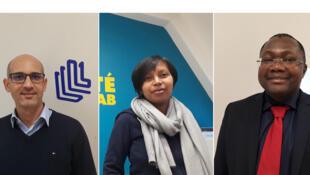 Charfeddine Yakoubi, Andrianina Rakotoarivelo et Luther Yaméogo représentent les trois projets lauréats du Prix Numérique et Transparence.